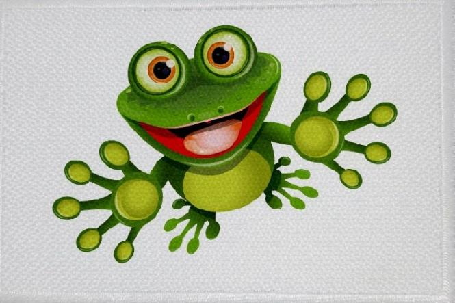 Aufnäher Frosch Motiv Nr. 7 Patch 9 x 6 cm