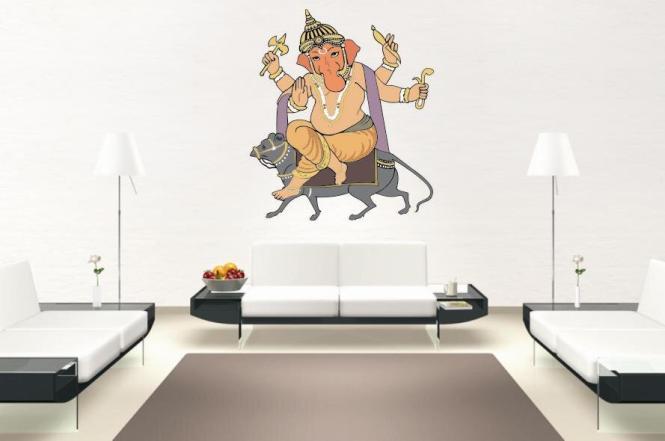 Wandtattoo Ganesha Motiv Nr. 3