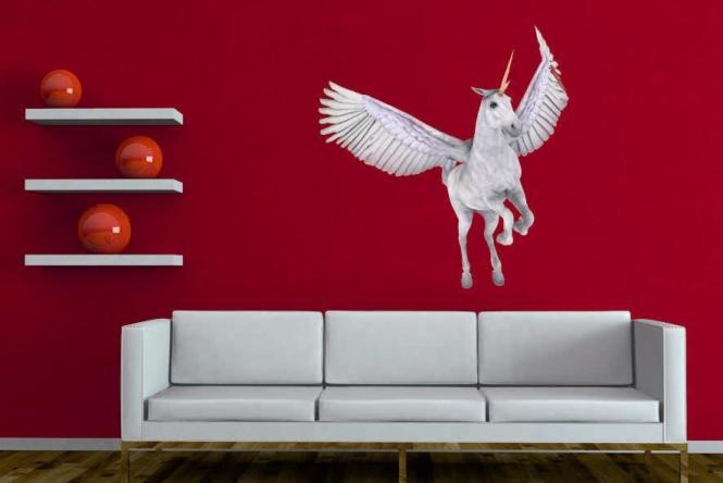 wandtattoo gefl geltes einhorn. Black Bedroom Furniture Sets. Home Design Ideas