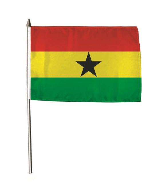Stockflagge Ghana 30 x 45 cm