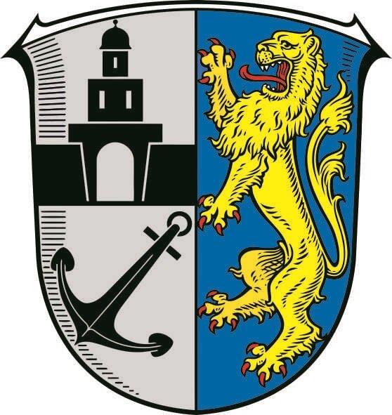 Aufkleber Ginsheim - Gustavsburg Wappen