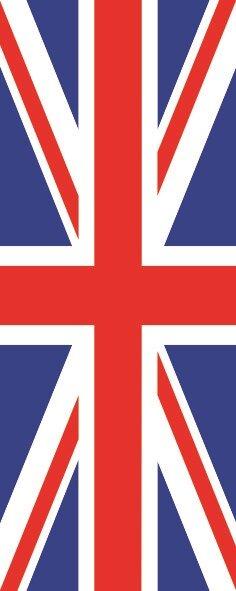 Flagge Grossbritannien im Hochformat