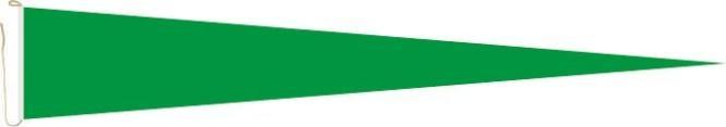 Langwimpel Grün