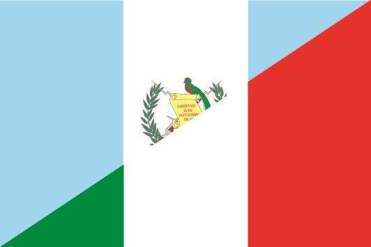 Aufkleber Guatemala-Italien
