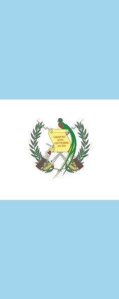 Flagge Guatemala im Hochformat