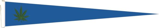 Langwimpel Hanf blau