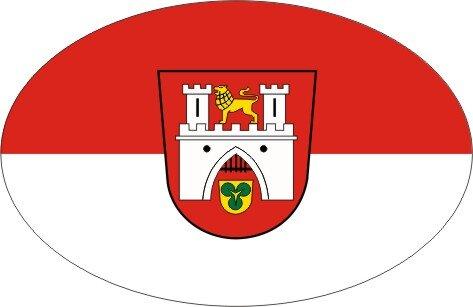 Aufkleber oval Hannover 10 x 6,5 cm