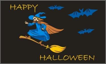 Fahne Happy Halloween 3 90 x 150 cm