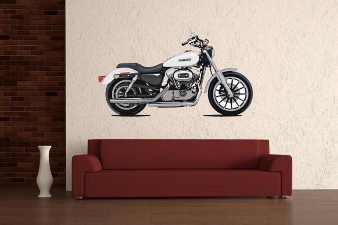 Wandtattoo Motorrad Color Motiv Nr. 1 L