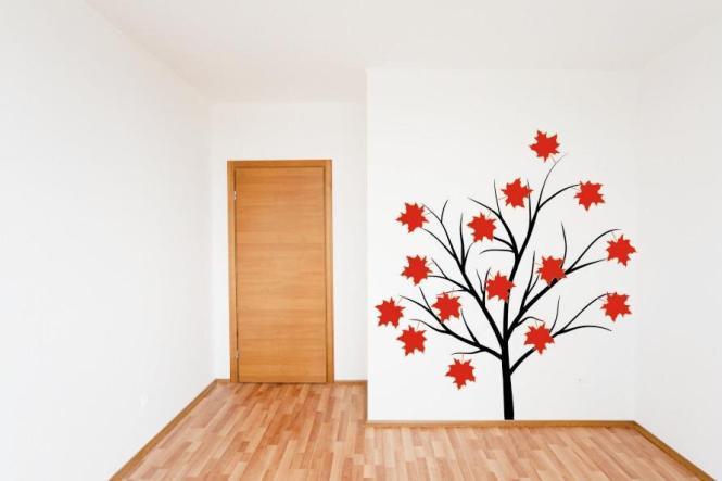 Wandtattoo Herbstbaum