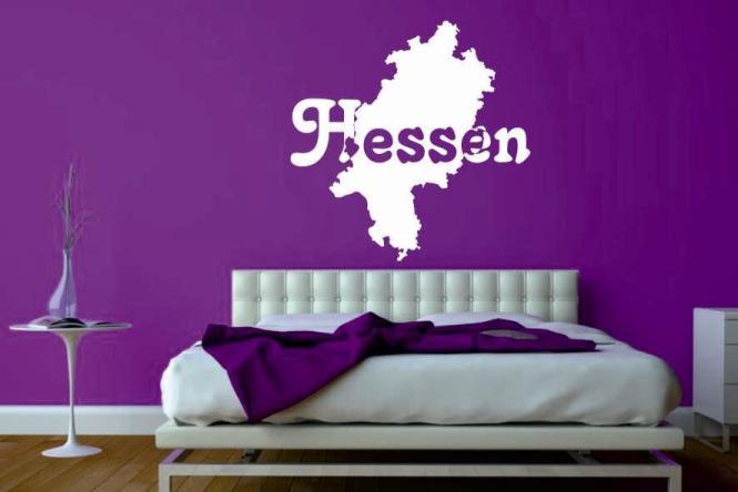 Wandtattoo Hessen Karte