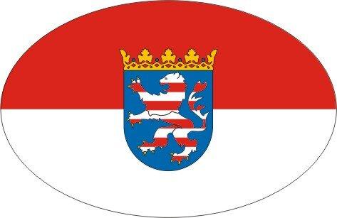 Aufkleber oval Hessen 10 x 6,5 cm