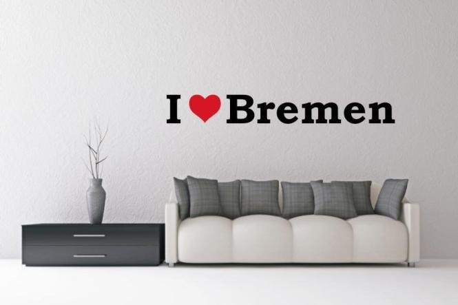 Wandtattoo I Love Bremen