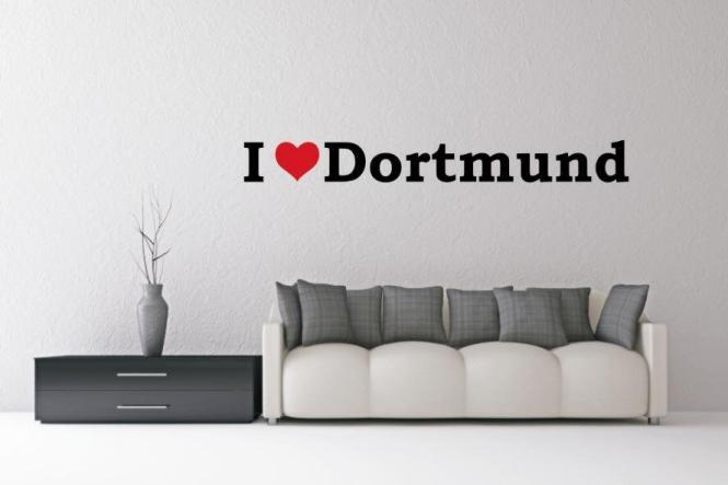 Wandtattoo I Love Dortmund