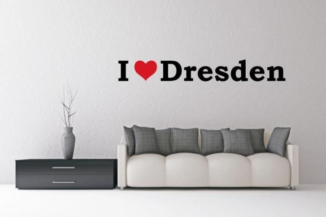 Wandtattoo I Love Dresden
