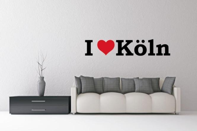 Wandtattoo I Love Köln