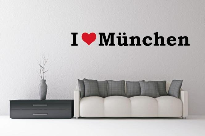 Wandtattoo I Love München
