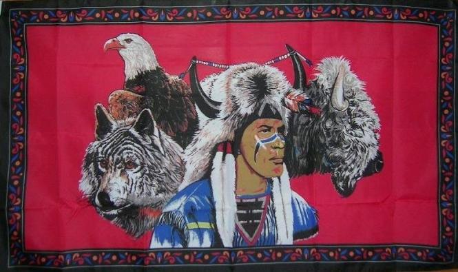 Fahne Indianer Buffalo 90 x 150 cm