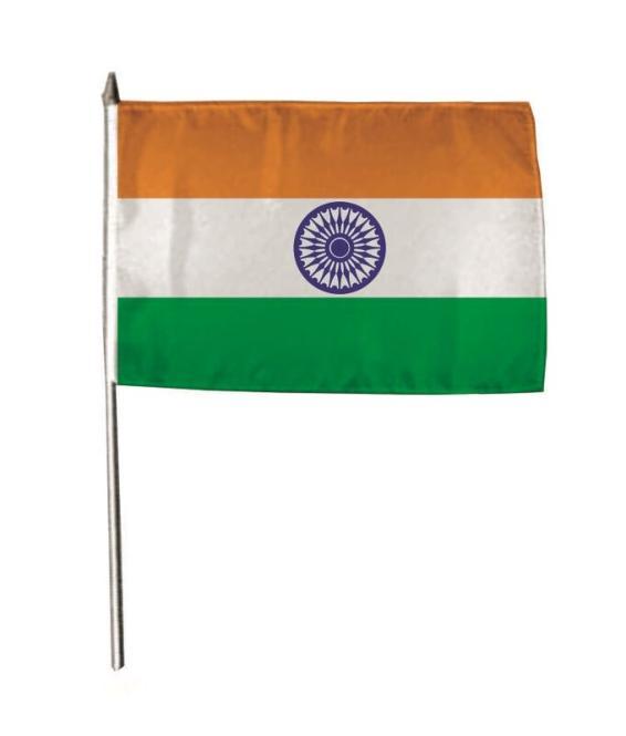 Stockflagge Indien 30 x 45 cm