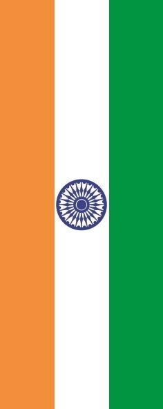 Flagge Indien im Hochformat