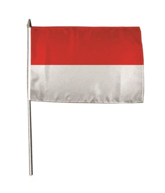 Stockflagge Indonesien 30 x 45 cm