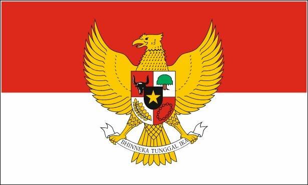 Aufkleber Indonesien mit Wappen