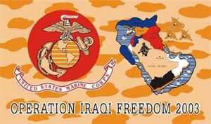 Fahne Irak Operation Freedom 90 x 150 cm