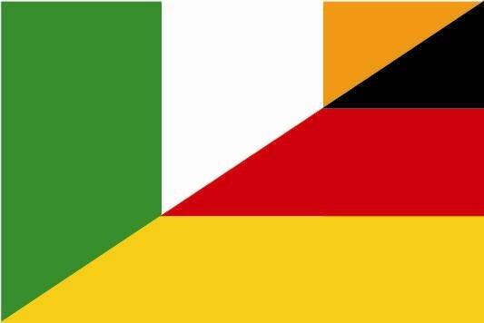 Aufkleber Irland - Deutschland