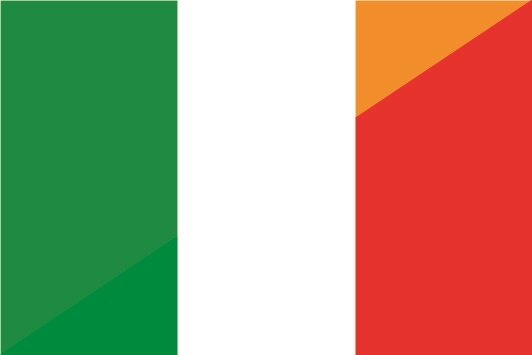 Aufkleber Irland-Italien