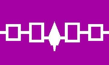 Fahne USA Irokesen Bund 60 x 90 cm