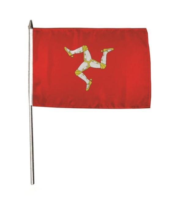 Stockflagge Isle of Man 30 x 45 cm