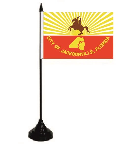 Tischflagge Jacksonville City 10 x 15 cm