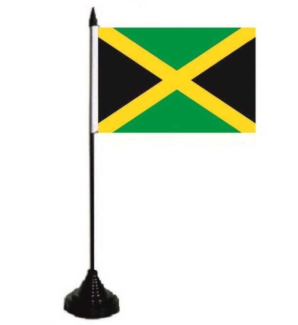 Tischflagge Jamaika 10 x 15 cm