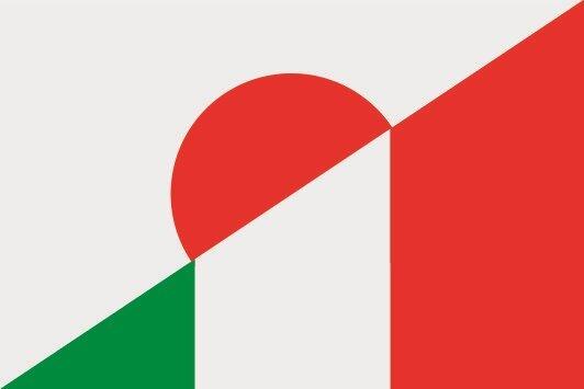 Flagge Japan - Italien