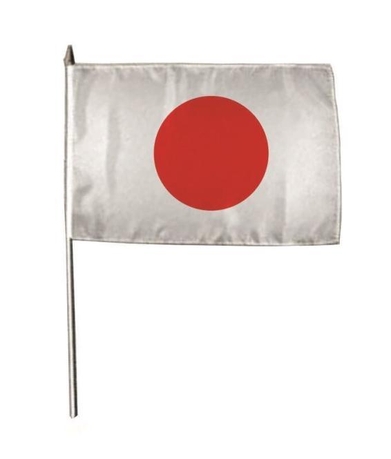 Stockflagge Japan 30 x 45 cm