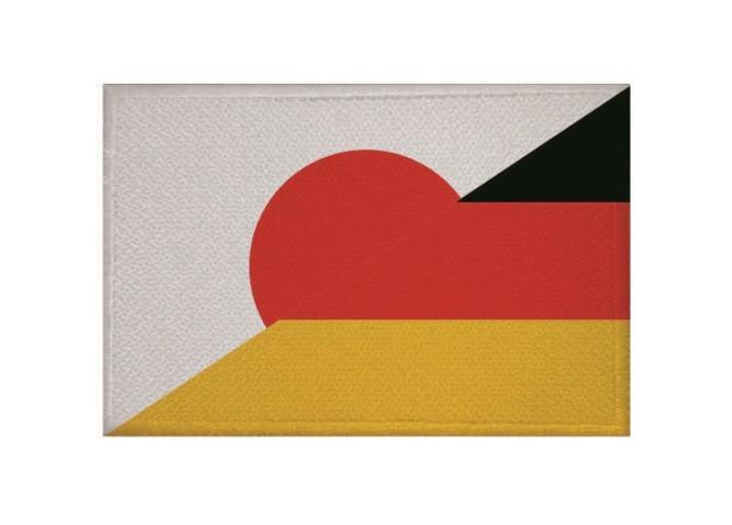 Aufnäher Patch Japan - Deutschland 9 x 6 cm
