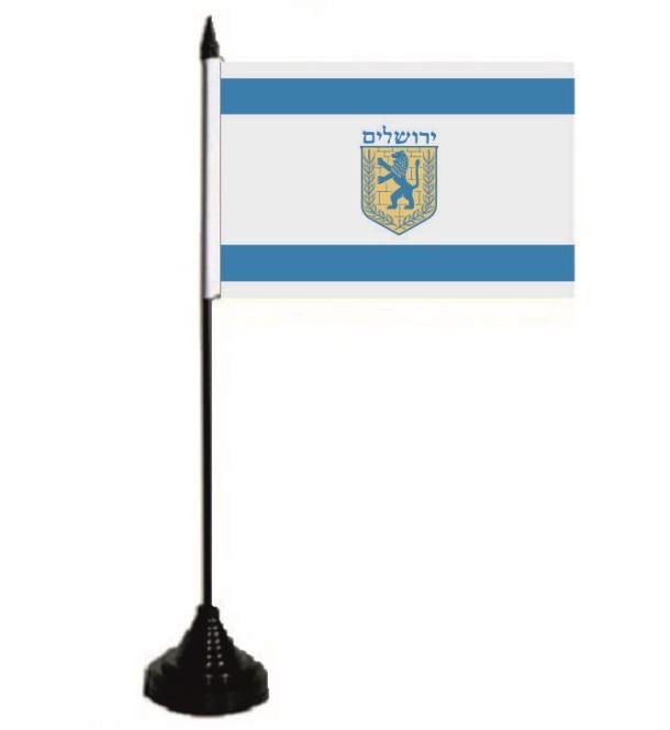 Tischflagge Jerusalem 10 x 15 cm