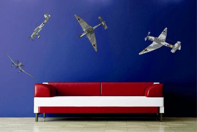 wandtattoo ju 87 stuka set. Black Bedroom Furniture Sets. Home Design Ideas