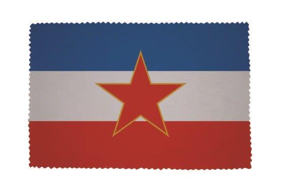 Glasreinigungstuch Jugoslawien alt