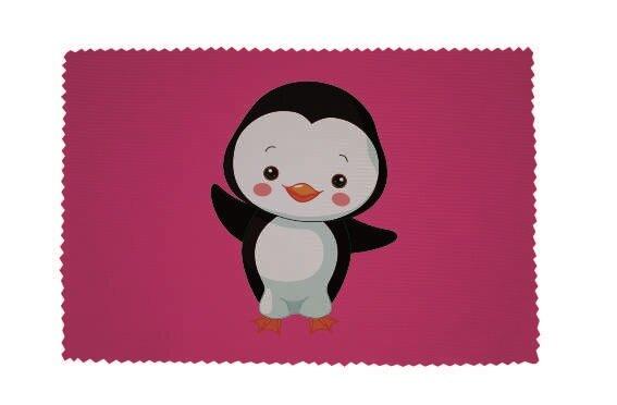 Glasreinigungstuch Junger Pinguin rosa