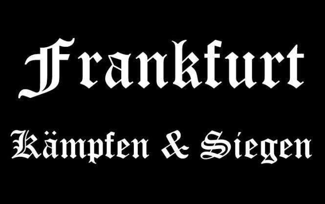 Aufnäher Frankfurt Kämpfen & Siegen Patch 9 x 6 cm