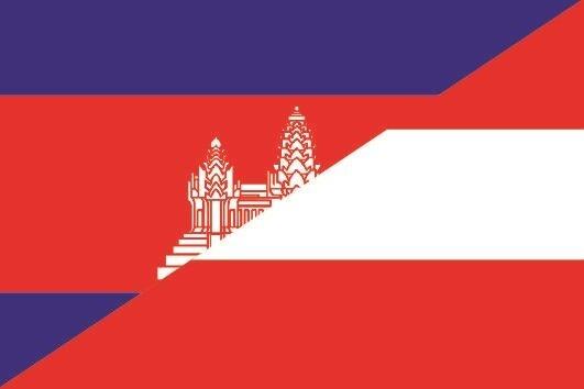 Aufkleber Kambodscha-Österreich