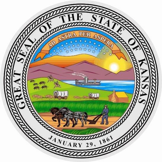 Aufkleber Kansas Siegel Seal