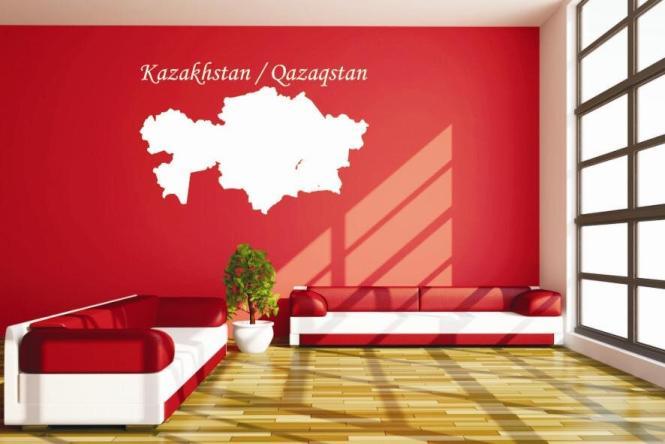 Wandtattoo Kasachstan Karte
