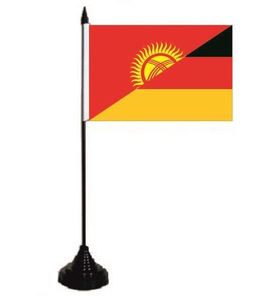 Tischflagge Kirgisistan-Deutschland 10 x 15 cm