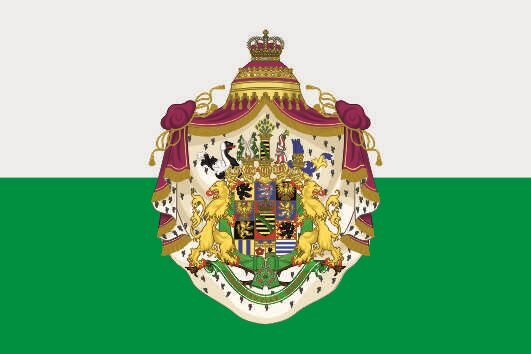 Aufkleber Königreich Sachsen großes Wappen