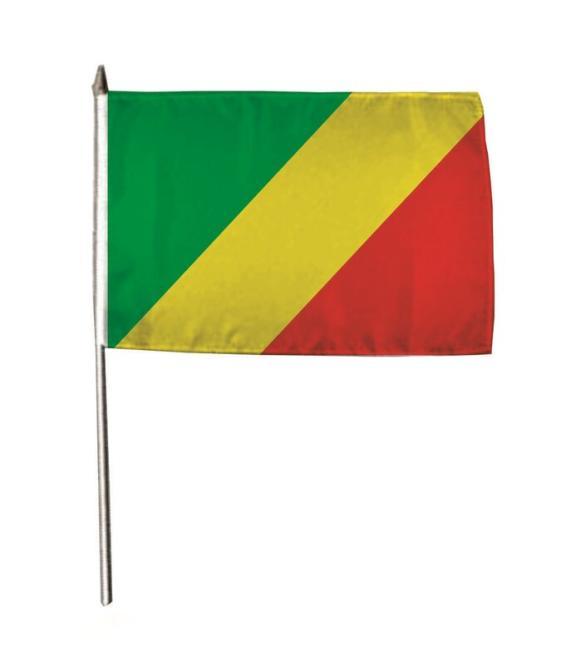 Stockflagge Kongo Brazzaville 30 x 45 cm