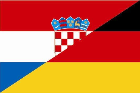 Aufkleber Kroatien - Deutschland