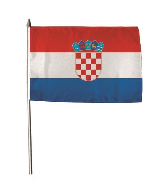 Stockflagge Kroatien 30 x 45 cm