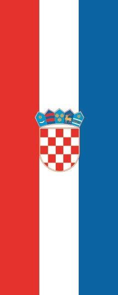 Flagge Kroatien im Hochformat